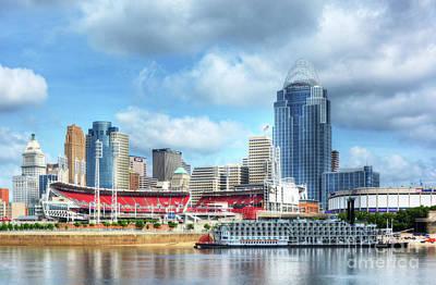 Steamboat Photograph - Cincinnati River Days 2 by Mel Steinhauer