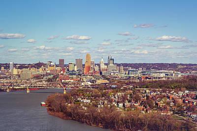 Digital Art - Cincinnati Skyline 2 by Scott Meyer