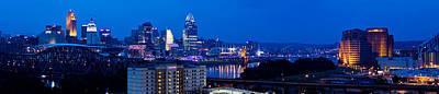 Photograph - Cincinnati Skyline At Night by Jonny D