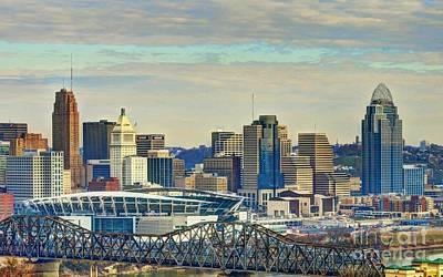 Photograph - Cincinnati Skyline Clouds 2 by Mel Steinhauer