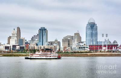 Photograph - Cincinnati Skyline Cruising by Mel Steinhauer
