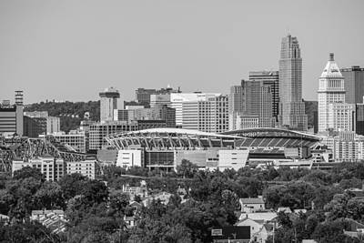 Photograph - Cincinnati Skyline From Above  by John McGraw