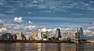 Cincinnati Skyline Hdr Art Print by Keith Allen