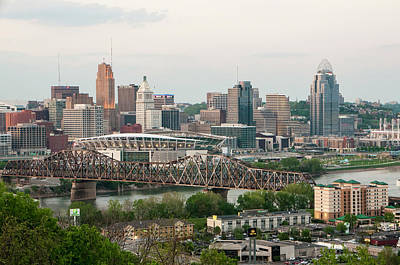 Photograph - Cincinnati Skyline No 3 by Phyllis Taylor