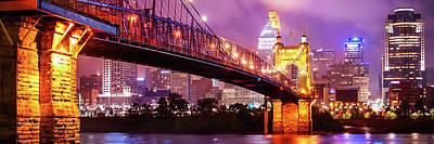 Photograph - Cincinnati Skyline Panorama - Ohio - Usa by Gregory Ballos