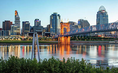Photograph - Cincinnati Skyline View by Gregory Ballos