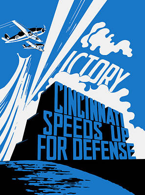 Military Production Painting - Cincinnati Speeds Up For Defense - Ww2 by War Is Hell Store