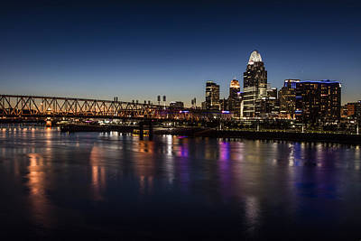Photograph - Cincinnati Sunset And Blue Hour  by John McGraw