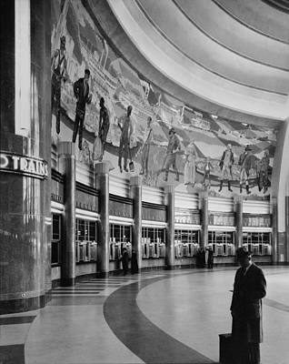 Mural Photograph - Cincinnati Union Terminal, Mural by Everett