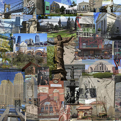 Photograph - Cincinnati's Favorite Landmarks by Robert Glover