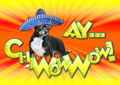 Cinco De Mayo - Ay Chiwowwow Art Print by Renae Laughner