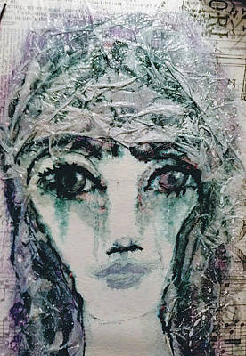 Mixed Media - Cinderella After Midnight by Linda Lavid