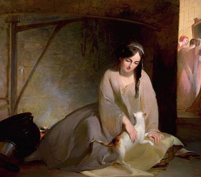 Thomas Sully Painting - Cinderella At The Kitchen by MotionAge Designs