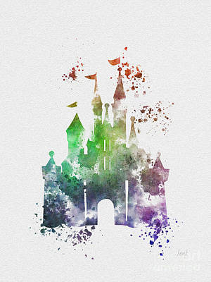 Fantasy Mixed Media - Cinderella Castle 2nd Edition by Rebecca Jenkins