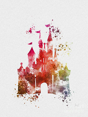 Cinderella Castle 3rd Edition Art Print by Rebecca Jenkins