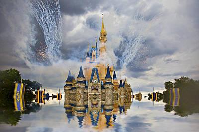 Typographic World - Cinderella Castle by Amy Jackson