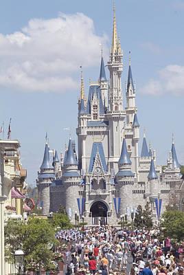 Photograph - Cinderella Castle At Walt Disney World by Charles  Ridgway