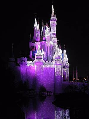 Disney Photograph - Cinderella Castle Christmas Reflection by Stuart Rosenthal