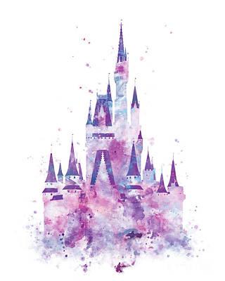 Mulan Wall Art - Mixed Media - Cinderella Castle by Monn Print  sc 1 st  Fine Art America & Mulan Art   Fine Art America