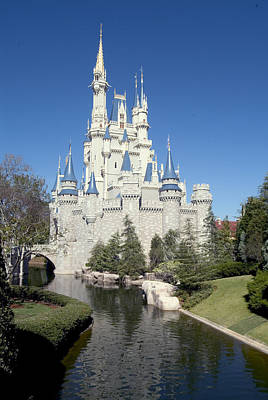 Photograph - Cinderella Castle Reflections by Charles  Ridgway