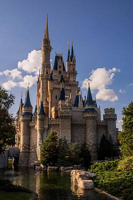 Cinderella Castle Side View Print by Zina Stromberg