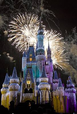 Travel Photograph - Cinderella Castle Spectacular by Charles  Ridgway