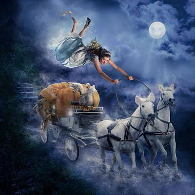Digital Composite Digital Art - Cinderella by Karen Alsop