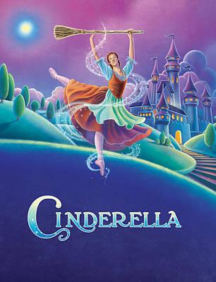 Dancer Mixed Media - Cinderella Poster by Anne Wertheim