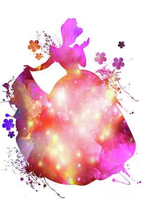 Cute Digital Art - Cinderella  by Prar Kulasekara