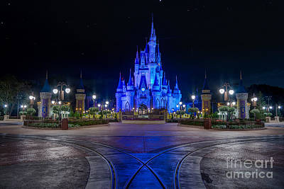 Photograph - Cinderellas Castle Glow by Luis Garcia