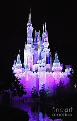 Cinderella's Holiday Castle Art Print