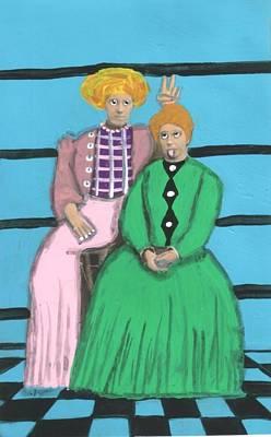 Painting - Cinderella's Ugly Stepsisters by JoLynn Potocki