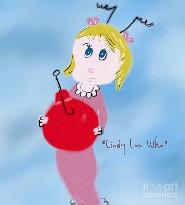 Photograph - Cindy Lou Who Illustration  by Susan Garren