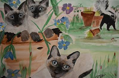 Painting - Cindy's Garden by Susan Snow Voidets