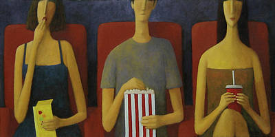 Painting - Cinema by Glenn Quist