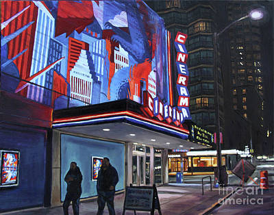 Painting - Cinerama At Night by Christopher Buoscio