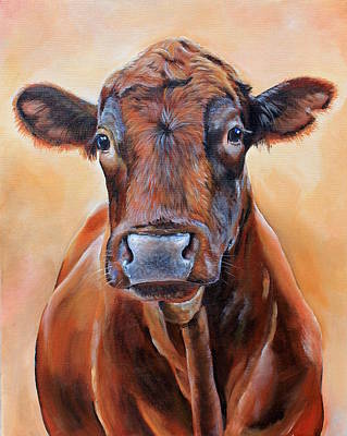 Angus Steer Painting - Cinnabar    by Laura Carey