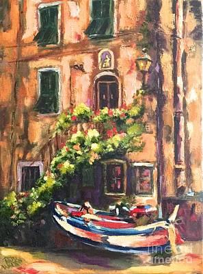 Painting - Cinque Terra Taxi by Patsy Walton