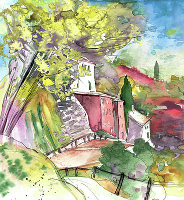 Art Miki Drawing - Cinque Terre 01 by Miki De Goodaboom
