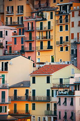 Photograph - Cinque Terre Building Background by Songquan Deng