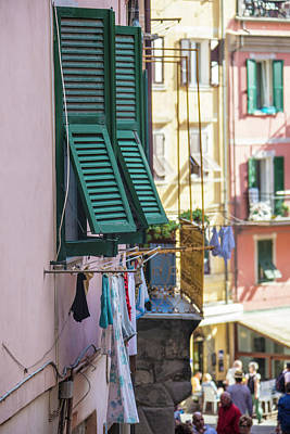 Photograph - Cinque Terre Clothes Line  by John McGraw