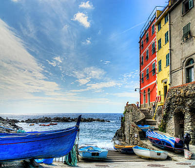 Photograph - Cinque Terre - Little Port Of Riomaggiore by Weston Westmoreland