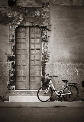 Photograph - Cinque Terre Monterosso Bike by Songquan Deng