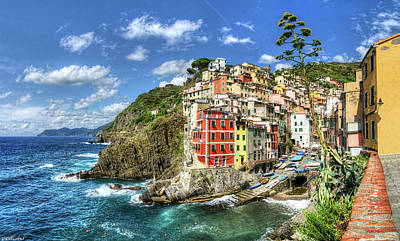 Photograph - Cinque Terre - Riomaggiore From Above by Weston Westmoreland