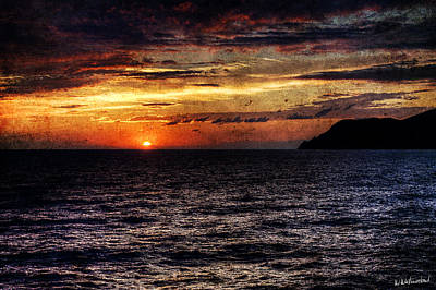 Photograph - Cinque Terre - Sunset From Manarola - Horizontal - Vintage Version by Weston Westmoreland