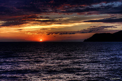 Photograph - Cinque Terre - Sunset From Manarola - Horizontal by Weston Westmoreland