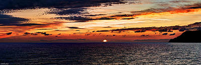 Photograph - Cinque Terre - Sunset From Manarola - Panorama by Weston Westmoreland