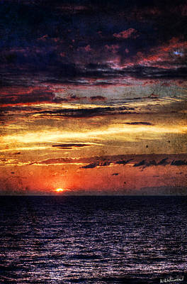 Photograph - Cinque Terre - Sunset From Manarola - Vertical - Vintage Version by Weston Westmoreland