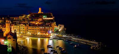 Photograph - Cinque Terre - Vernazza At Night by Weston Westmoreland
