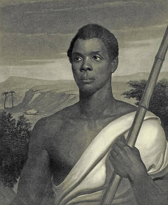 Black Man Painting - Cinque, The Chief Of The Amistad Captives by J Sartain